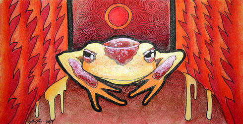 Fire Frog by Ravenari