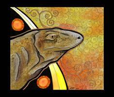 Komodo Dragon as Totem by Ravenari