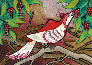 Rose Red Phoenix Pheasant