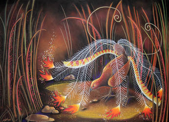 Lyrebird as Firebird by Ravenari