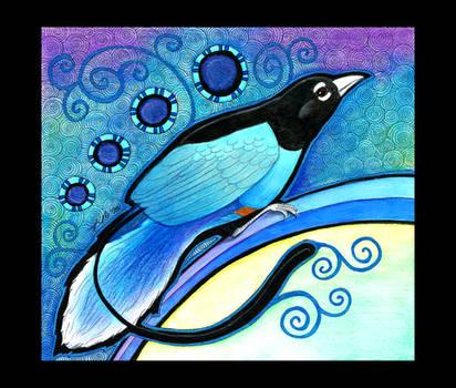 Blue Bird of Paradise as Totem by Ravenari