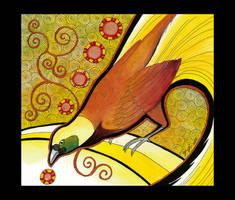 Greater Bird of Paradise Totem by Ravenari