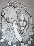 Red Riding Hood - BW