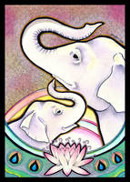 White Elephants as Totem by Ravenari