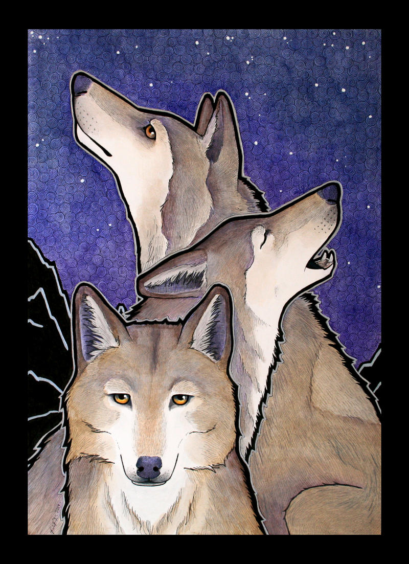 The Three Wolves by Ravenari
