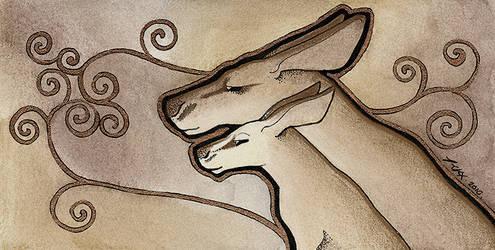 Bronze Kangaroos by Ravenari