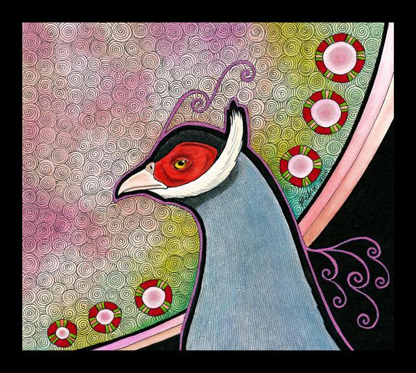 Blue Eared Pheasant as Totem by Ravenari