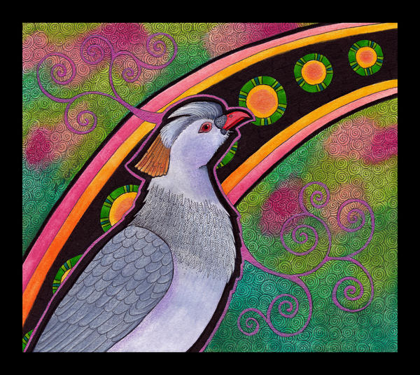 Topknot Pigeon as Totem by Ravenari