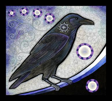 Common Raven as Totem by Ravenari