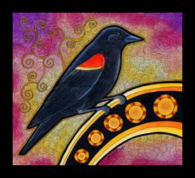 Red Winged Blackbird as Totem by Ravenari