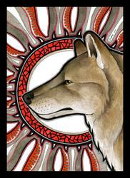 Dire Wolf as Totem by Ravenari