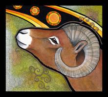 Bighorn Sheep as Totem by Ravenari