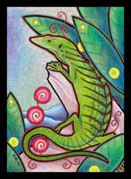 Emerald Tree Monitor as Totem by Ravenari