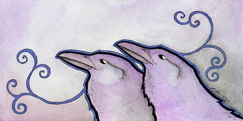 Purple Ravens by Ravenari