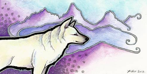 The White Dog by Ravenari