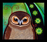 Brown Wood Owl as Totem