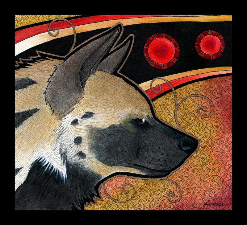 Striped Hyena as Totem by Ravenari