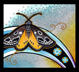 Golden Sun Moth as Totem by Ravenari