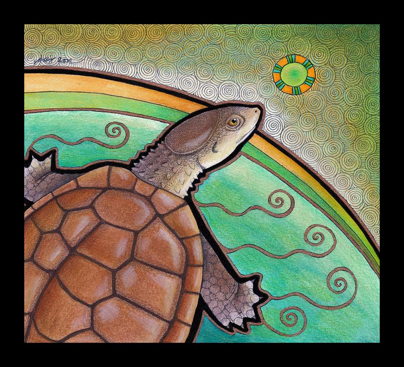 Western Swamp Tortoise as Totem by Ravenari
