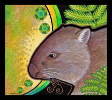 Common Wombat - subsp tasmaniensis - as Totem by Ravenari