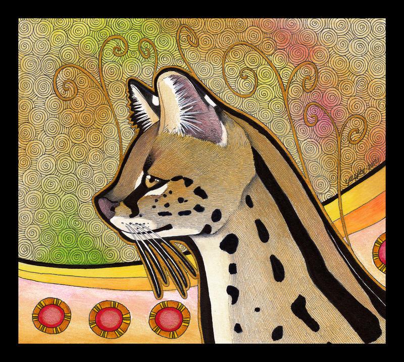 Serval as Totem by Ravenari