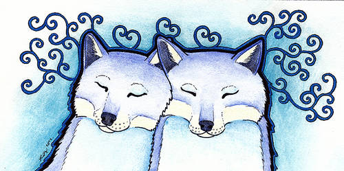 Blue Foxes by Ravenari
