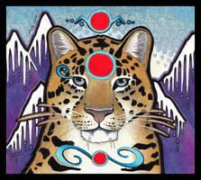 Red Circle Amur Leopard by Ravenari