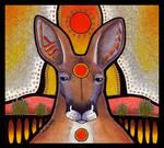 Red Circle Red Kangaroo