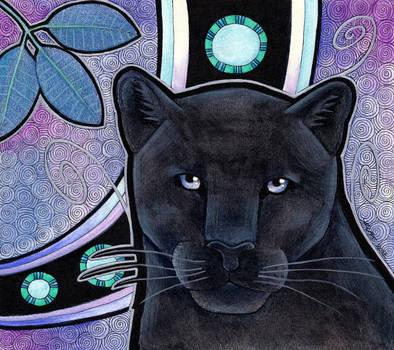 Melanistic Jaguar as Totem II by Ravenari