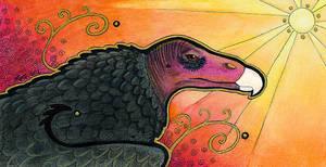 The Sun Sentinel - Turkey Vulture mini-totem by Ravenari