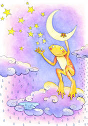 The Frog that Makes Stars when it Rains by Ravenari