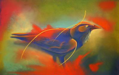 Blue Days Raven by Ravenari