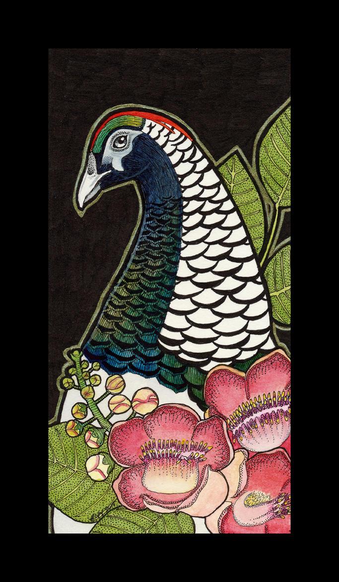 Lady Amherst's Pheasant and Shorea by Ravenari