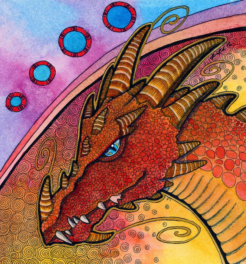 Red Dragon as Totem by Ravenari
