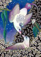 Unicorn Moon Sickle - Courtship by Ravenari