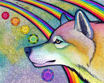 Rainbow Wolf by Ravenari