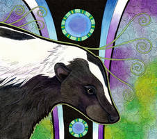 Striped Skunk as Totem by Ravenari