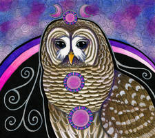 Barred Owl as Totem by Ravenari