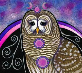 Barred Owl as Totem by Ravenari