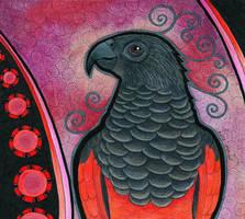 Pesquet's Parrot as Totem by Ravenari