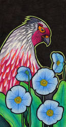 Blood Pheasant and Blue Poppies