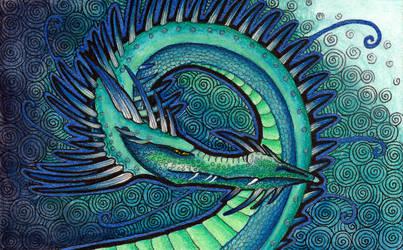 Dark Deep Water Dragon by Ravenari