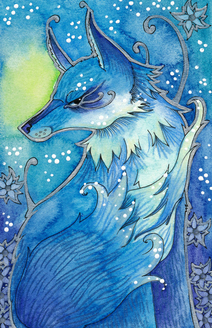 Blue Series - 01 Fox by Ravenari