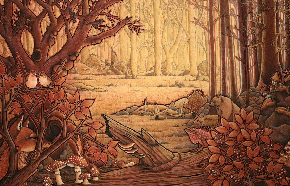 The Copper Forest by Ravenari on DeviantArt