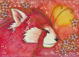 Rose Series - 03 Red Panda by Ravenari
