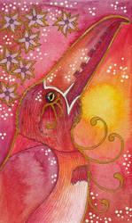 Rose Series - 04 Collared Aracari (Toucan) by Ravenari