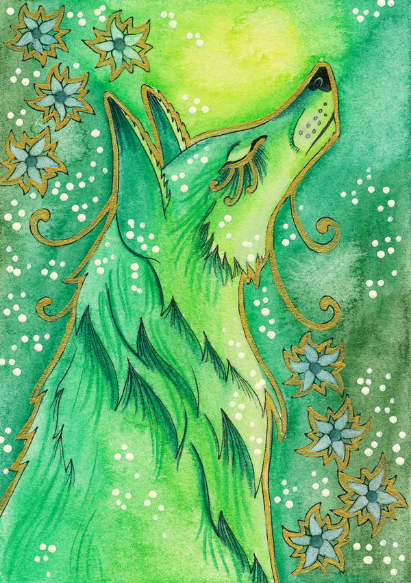 Green Series - 01 Fox by Ravenari