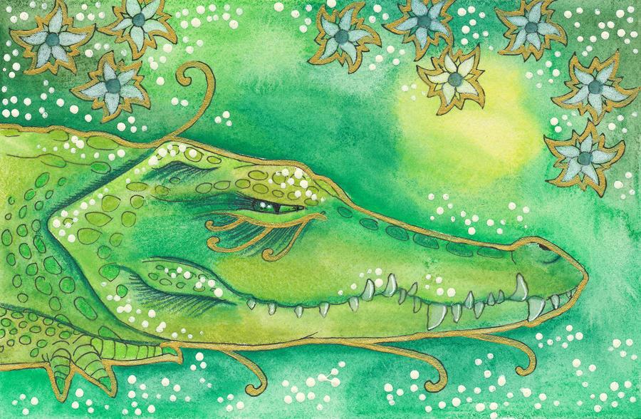 Green Series - 04 Crocodile by Ravenari