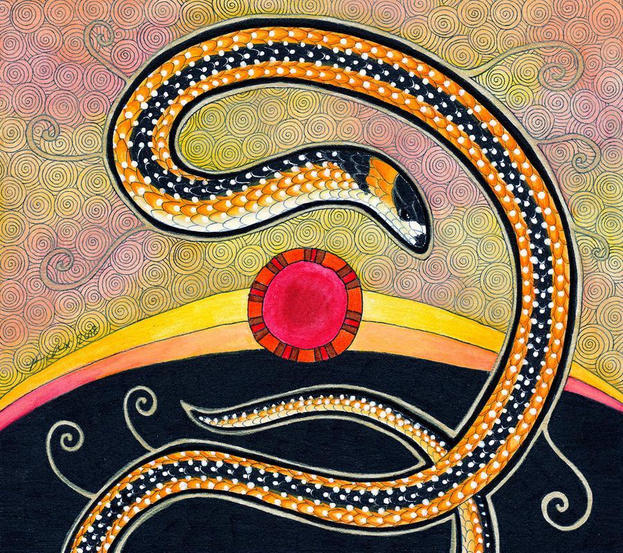 Black-Striped Burrowing Snake by Ravenari