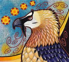 Bearded Vulture - Lammergeier as Totem by Ravenari